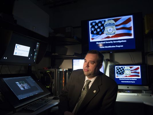 Jim Cole is national program manager for the victim identification program at Homeland Security Investigations' Cyber Crime Center. (Photo: H. Darr Beiser, USA TODAY)